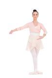 Серьезная шикарная балерина представляя для камеры стоковое фото