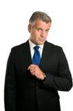 серьезное бизнесмена возмужалое озадаченное Стоковые Изображения RF
