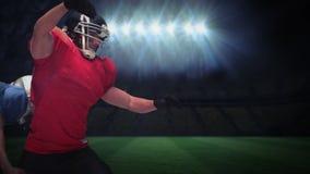 Серьезные американские футболисты решая для шарика акции видеоматериалы