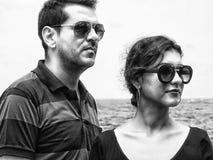 Серьезные пары человека и женщины Стоковое Фото