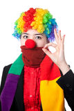Серьезный азиатский клоун стоковое изображение