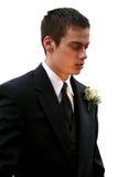Серьезный изолированный мальчик выпускного вечера Стоковые Изображения