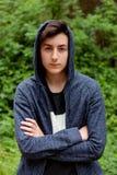 Серьезный парень подростка Стоковая Фотография