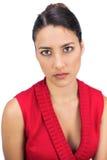 Серьезный связанный с волосами представлять брюнет стоковые фотографии rf