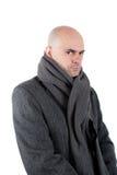 Серьезный человек с пальто одежды из твида стоковое изображение