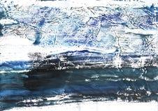 Сер-голубая покрашенная бумага акварели Стоковое Фото