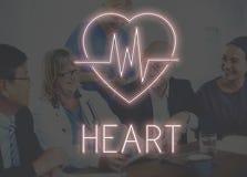 Сердечная концепция графика сердца сердечно-сосудистого заболевания стоковая фотография
