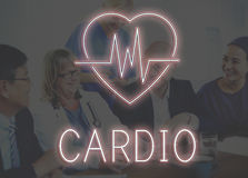 Сердечная концепция графика сердца сердечно-сосудистого заболевания стоковое изображение rf