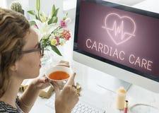 Сердечная концепция графика сердца сердечно-сосудистого заболевания стоковые фотографии rf