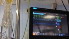 Сердечный монитор акции видеоматериалы