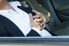 Сердечный приступ в автомобиле Стоковое Изображение RF