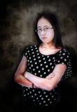 Сердитая азиатская девушка Стоковые Изображения RF