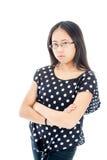 Сердитая азиатская девушка Стоковая Фотография RF