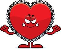 Сердитая валентинка шаржа Стоковое Изображение RF