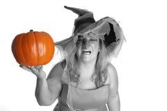 сердитая ведьма Стоковая Фотография