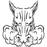 сердитая головная лошадь Стоковая Фотография RF