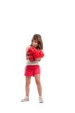 Сердитая девушка боксера Стоковое Фото