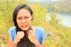 сердитая девушка Стоковое фото RF