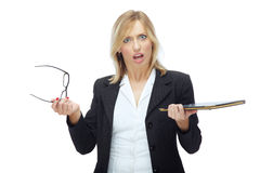 сердитая женщина босса Стоковое Изображение