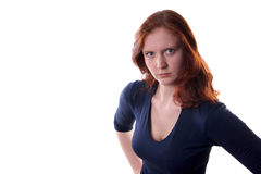 Сердитая женщина Стоковые Изображения