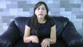 Сердитая женщина сток-видео