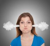 сердитая женщина Стоковые Фотографии RF