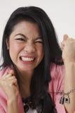 Сердитая женщина malay стоковое изображение rf