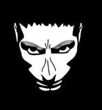 Сердитая иллюстрация стороны человека Стоковые Фотографии RF