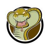 сердитая кобра шаржа Стоковые Изображения RF