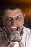Сердитая певица Стоковое Изображение