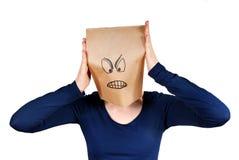 Сердитая персона Стоковые Фото