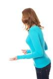 Сердитая подростковая женщина делая кулаки Стоковые Изображения RF
