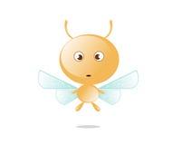 Сердитая пчела меда Стоковая Фотография