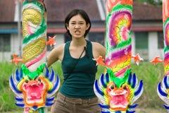 сердитая девушка драконов Стоковые Фотографии RF