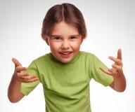 Сердитое раздражанное думая брюнет женщины немного Стоковые Фото