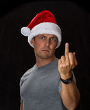 Сердитое Санта Стоковые Фото