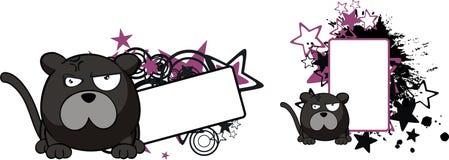 сердитое copyspace шарика шаржа пантеры Стоковая Фотография