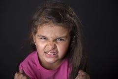 Сердитые 4 года девушки Стоковые Фотографии RF