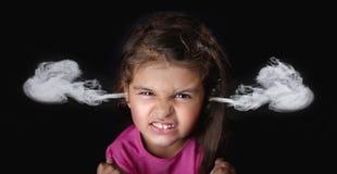 Сердитые 4 года девушки Стоковое Изображение