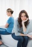 Сердитые женщины после tiff не говоря Стоковое фото RF