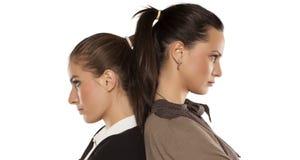 сердитые 2 женщины Стоковое Изображение RF
