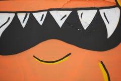 Сердитые зубы изверга Стоковое Фото