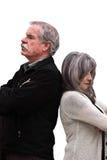 Сердитые пары стоят спина к спине Стоковая Фотография RF