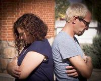 Сердитые пары человека и женщины Стоковые Фотографии RF