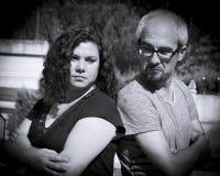 Сердитые пары человека и женщины Стоковое Изображение