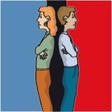 сердитые пары иллюстрация штока