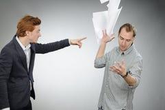 сердитые документы укомплектовывают личным составом бросать Стоковое Изображение RF