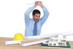 сердитый архитектор Стоковое фото RF