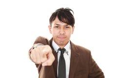 сердитый бизнесмен очень Стоковые Фото