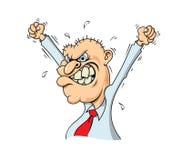 Сердитый бизнесмен бесплатная иллюстрация